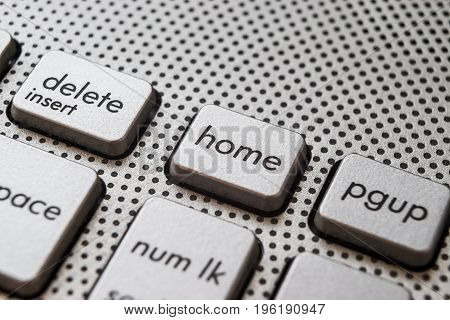 Aluminium Home button on the laptop keyboard