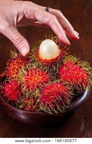 Rambutan A Sweet Tropical Fruit