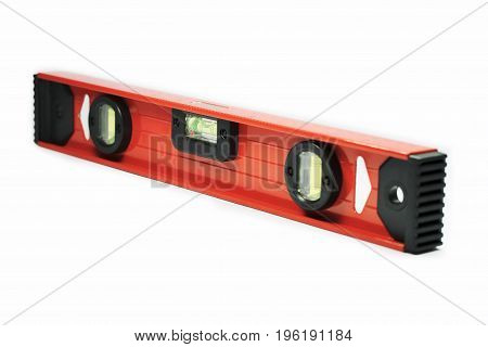 Water level measuring tool isolated in white background