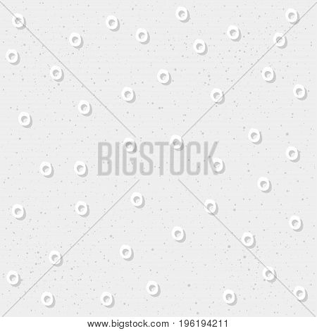Doodle Round Seamless Pattern Background.