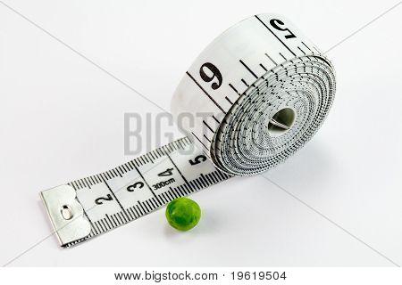 Pea and tape measure