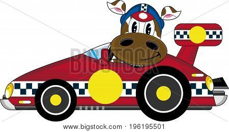 Racing Driver Cow 1.eps