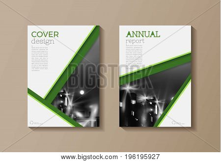 green modern cover book Brochure template design annual report magazine and flyer layout Vector a4