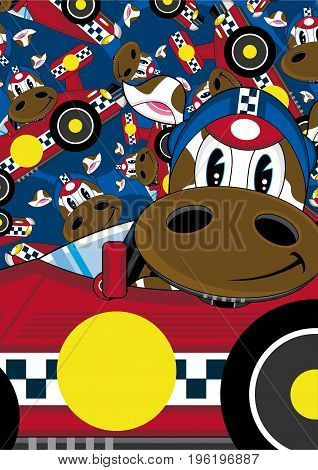 Racing Driver Cow 7