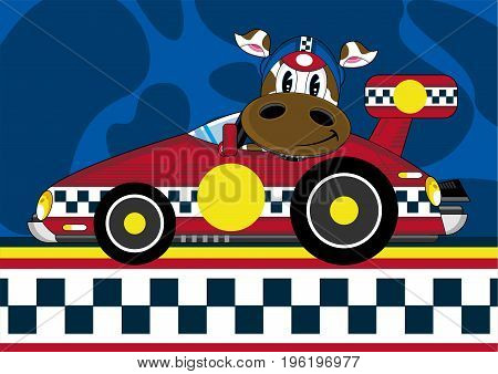 Racing Driver Cow 12