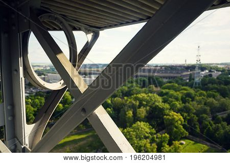 Construction Of The Petrin Lookout Tower In Prague, Czech Republic