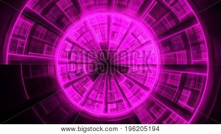 Portal of time. Protective sphere. 3D surreal illustration. Sacred geometry. Mysterious psychedelic relaxation pattern. Fractal abstract texture. Digital artwork graphic astrology magic