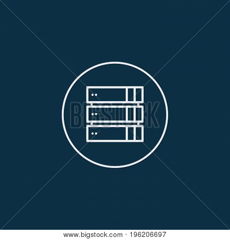 Computer Server icon, flat design. Vector illustration