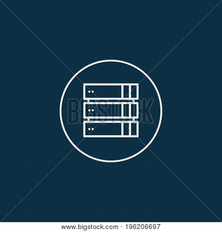 Computer Server icon, flat design. Vector illustration