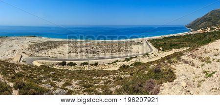 Summer Ionian Sea Coast, Albania.