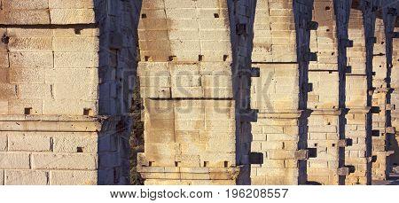 Pont Du Gard roman aqueduct in France - website banner