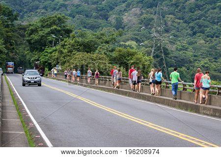 Tourists On The Tarcoles Bride