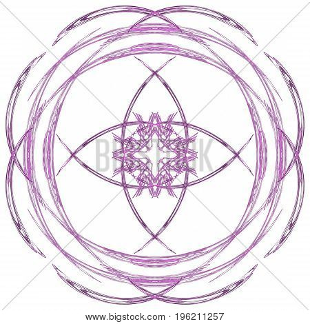 Abstract Grunge Purple Isolated Floral Pattern