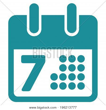 Calendar Day Page vector icon. Flat soft blue symbol. Pictogram is isolated on a white background. Designed for web and software interfaces.
