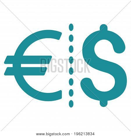 Currency vector icon. Flat soft blue symbol. Pictogram is isolated on a white background. Designed for web and software interfaces.