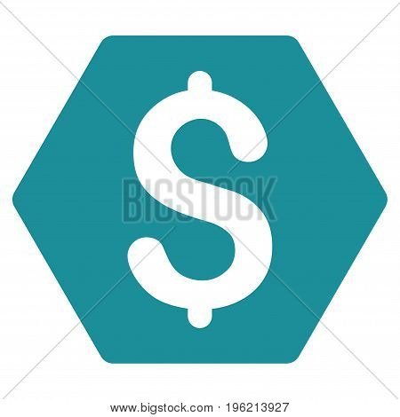 Finance vector icon. Flat soft blue symbol. Pictogram is isolated on a white background. Designed for web and software interfaces.
