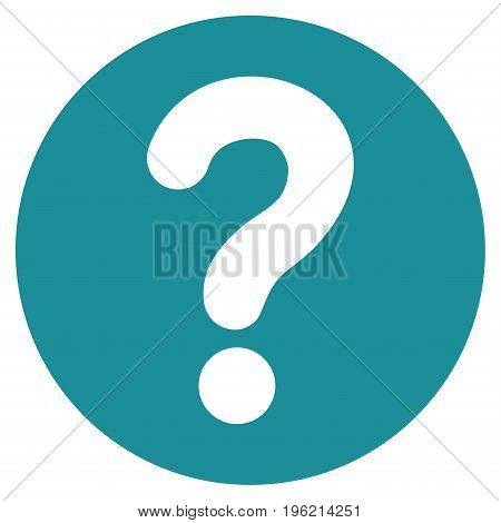 Query vector icon. Flat soft blue symbol. Pictogram is isolated on a white background. Designed for web and software interfaces.