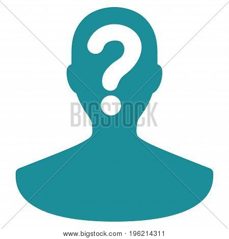 Unknown Person vector icon. Flat soft blue symbol. Pictogram is isolated on a white background. Designed for web and software interfaces.