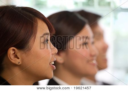 Asian Business Woman  In A Meeting
