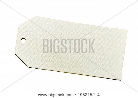 Blank Decorative White Fabric Gift Tag With Hole For Tie