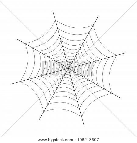spider web black vector illustration on white
