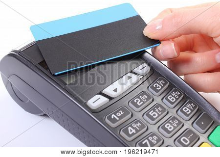Using Payment Terminal With Contactless Credit Card