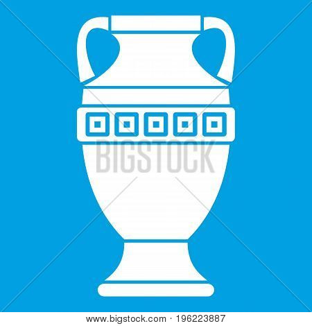 Ancient jug icon white isolated on blue background vector illustration