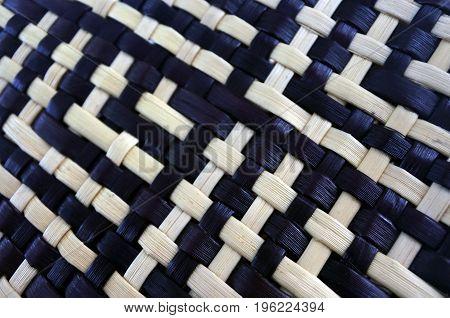 Maori weaving artwork background natural plant texture.