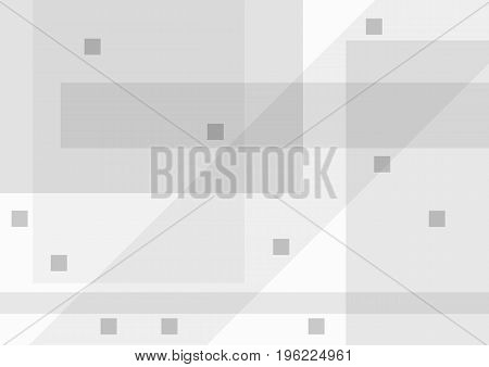 Abstract grey background with geometric shapes. Rectangular template. Vector illustration.
