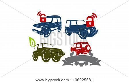Jeep Car Service Ribbon Leaf Gear Wing Lock Collection3