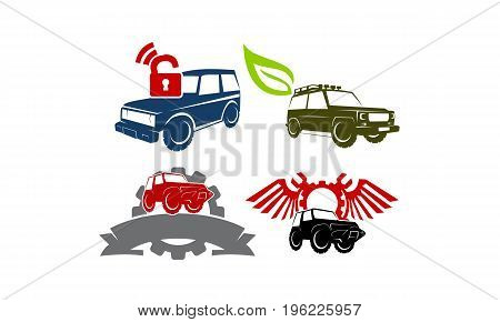 Jeep Car Service Ribbon Leaf Gear Wing Lock Collection4
