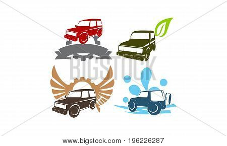 Jeep Car Service Wing Gear Ribbon Leaf Water Collection2