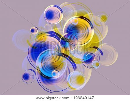 design of background from the stylized bubbles