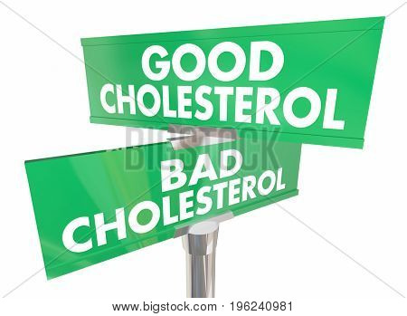 Good Vs Bad Cholesterol Signs Improve Health 3d Illustration