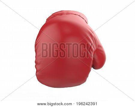 3d renderingv punching red boxing glove on white background
