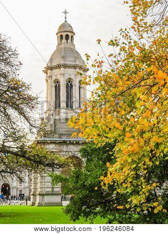 The Campanile and Library Square. Trinity College, Dublin, Ireland