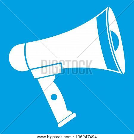 Mouthpiece icon white isolated on blue background vector illustration