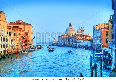 Beautiful view over Venice Grand canal in Italy