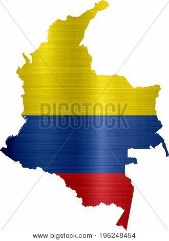 flag map colombia illustration nation border south America