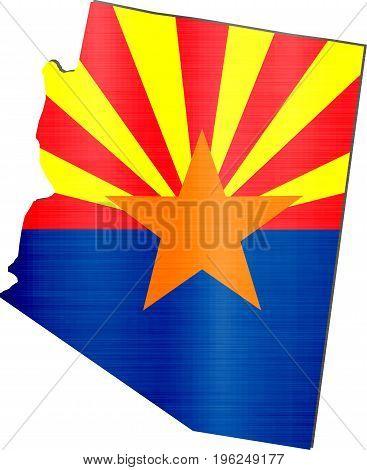 map arizona flag illustration nation border usa