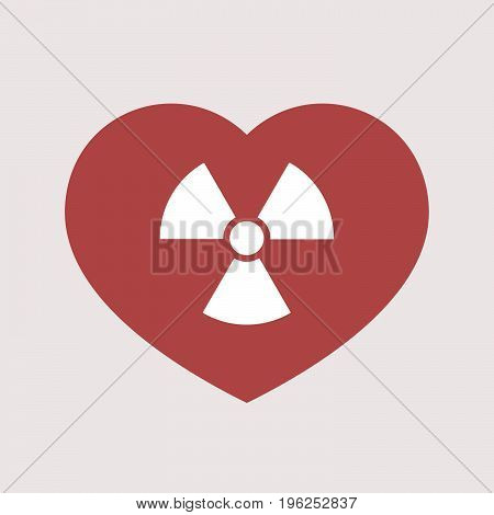 Isolated Heart With A Radio Activity Sign