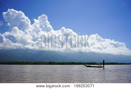 Landscape Of Inle Lake In Shan, Myanmar