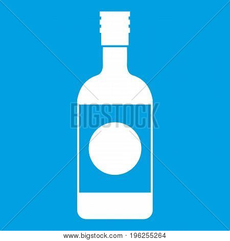 Japanese sake icon white isolated on blue background vector illustration