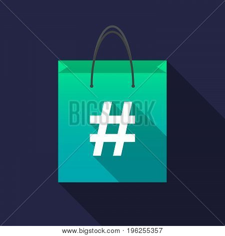 Long Shadow Shopping Bag With A Hash Tag