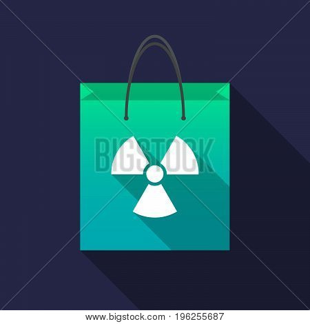 Long Shadow Shopping Bag With A Radio Activity Sign