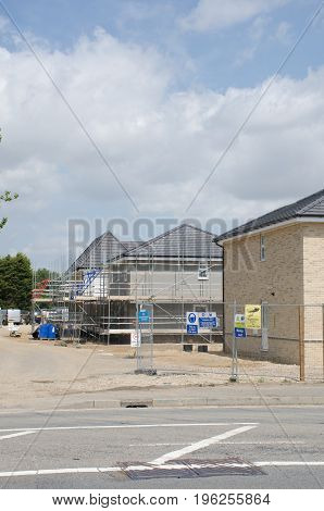 Elmstead Essex United Kingdom -17 July 2017: Residential Housing Development