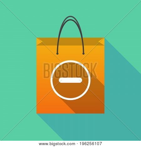 Long Shadow Shopping Bag With A Subtraction Sign