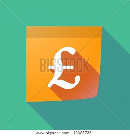 Long Shadow Paper Note With A Pound Sign