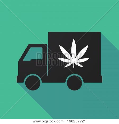 Long Shadow Truck With A Marijuana Leaf