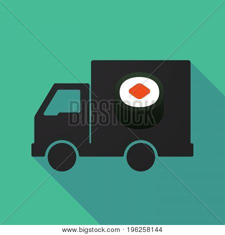 Long Shadow Truck With A Piece Of Sushi Maki